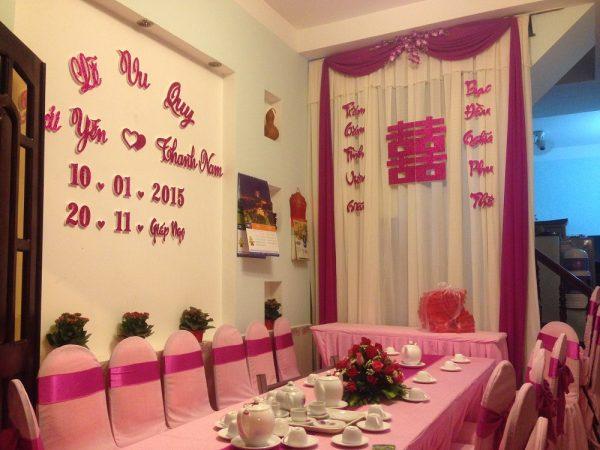 Trang-tri-nha-cuoi-gia-re-02 Dịch vụ trang trí nhà cưới hỏi trọn gói