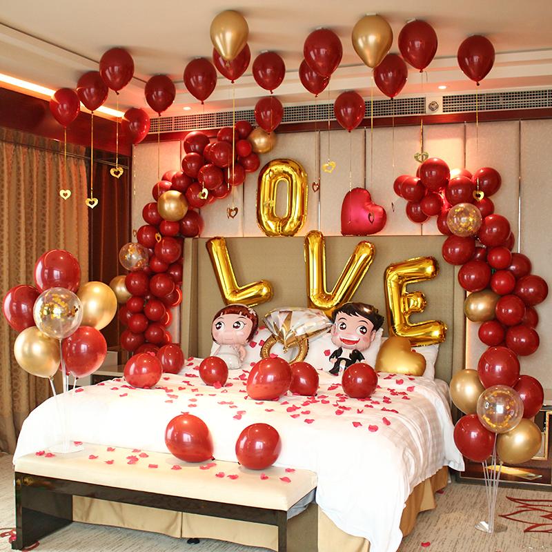 trang-tri-nha-cuoi-bang-bong-bay Xu hướng trang trí phòng cưới của các cặp đôi hiện nay là gì?